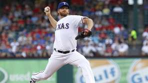Ryan Dempster of the Texas Rangers delivers a