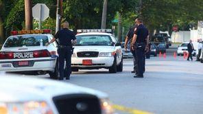 Nassau Police on the scene in Baldwin Harbor,