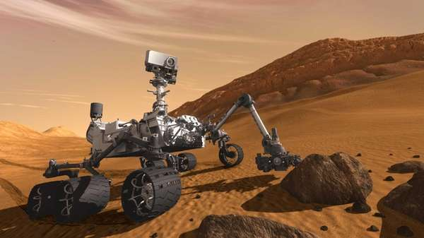 In this 2011 artist's rendering, the Mars Science