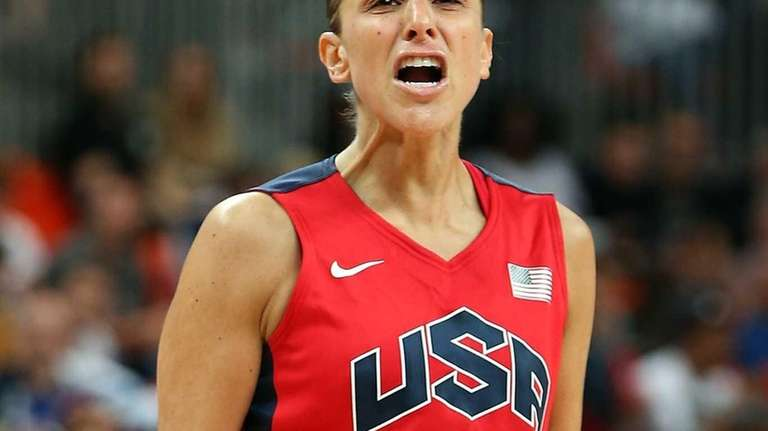 Diana Taurasi of the United States reacts after