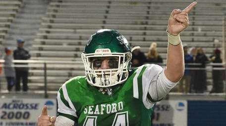 SeafordÕs Craig Ackerman reacts after the win against