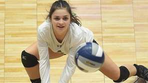 Karyn Shaller of Seaford makes a dig while
