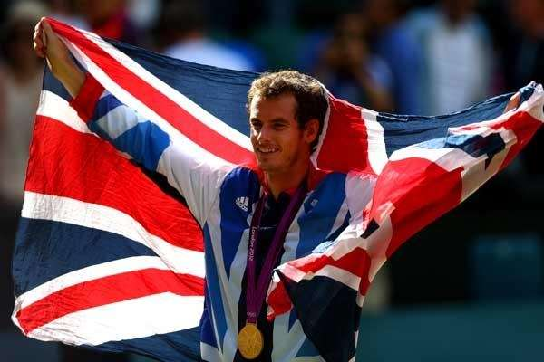 Andy Murray of Great Britain poses with his