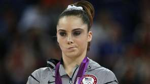 McKayla Maroney poses with her silver medal on