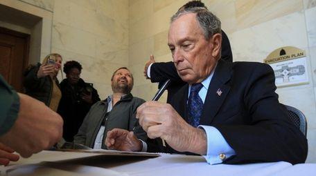 Former New York City Mayor Michael Bloomberg fills