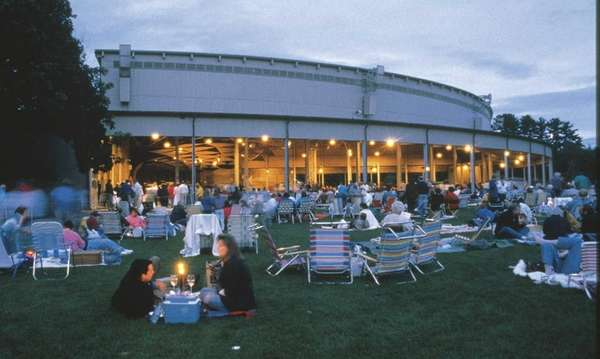 Tanglewood at dusk.