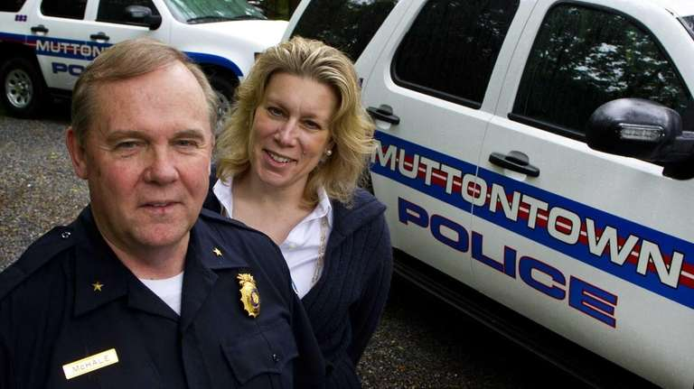 Muttontown Police Chief William J. McHale and Mayor