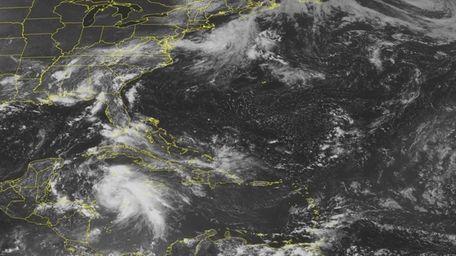 This NOAA satellite image taken Monday, Aug. 6,