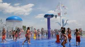 Venetian Shores in Lindenhurst features a sprinkler park