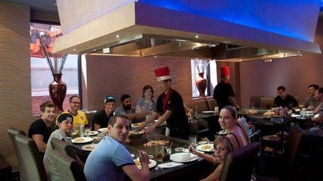 Hibachi dining at Hoshi Sushi & Hibachi in