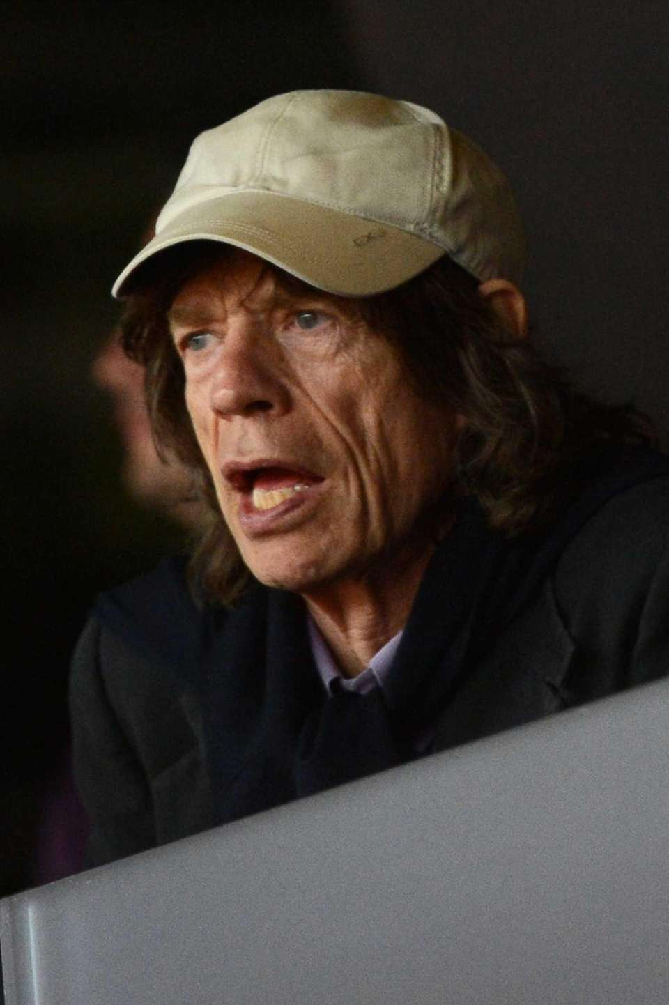 British musician Mick Jagger attends the athletics event