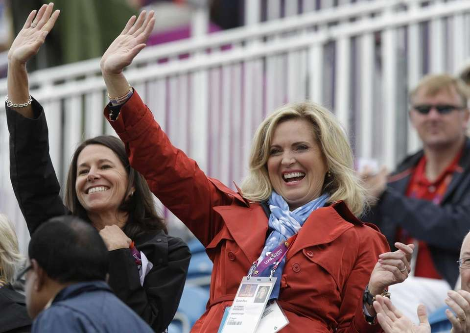 Ann Romney, the wife of U.S. Republican presidential