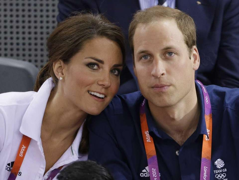 Prince William, right, and wife Kate, Duke and