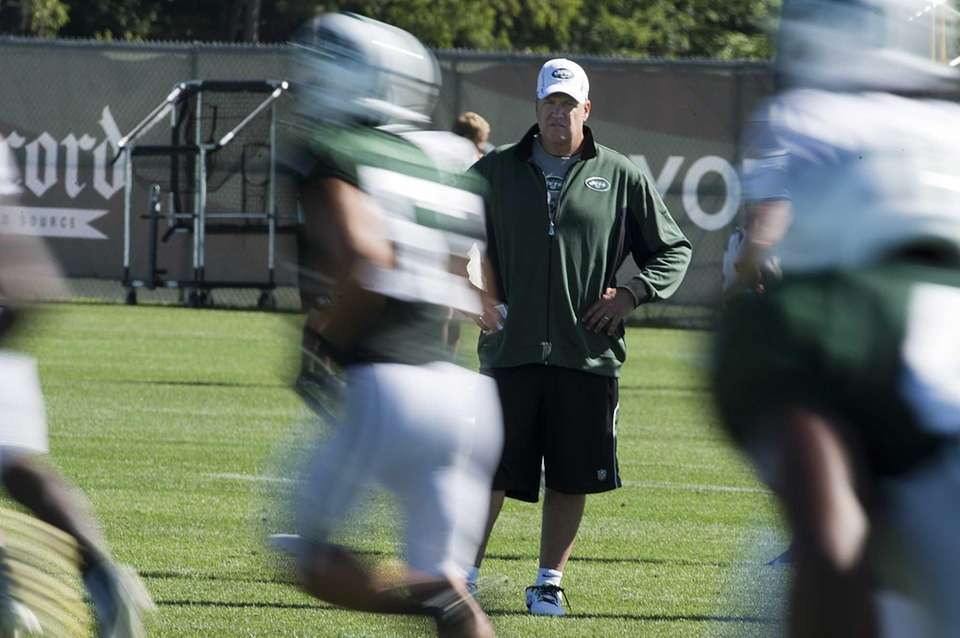 New York Jets' head coach Rex Ryan made