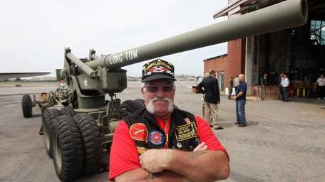 Vietnam Veteran Ken Wales of Westchester with the