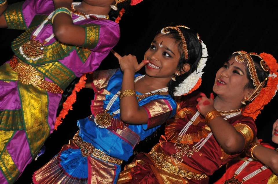Traditional Indian dancing by women and girls, such