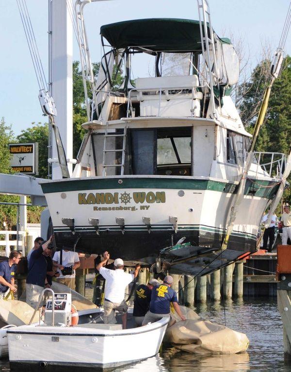 The Kandi Won, which capsized and sank on