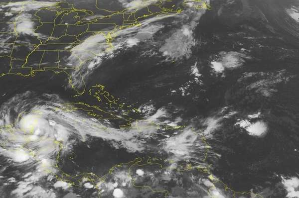 This NOAA satellite image takenat 1:45 a.m. EDT