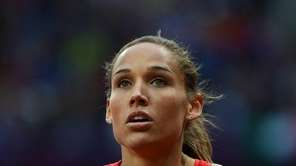 LoLo Jones at the end of the women's