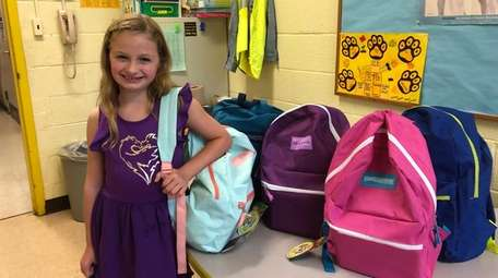 Molly McHenry, a third-grader at Lynwood Avenue Elementary