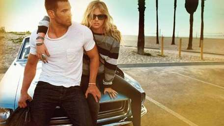 Kellan Lutz, left, and model Kate Upton show