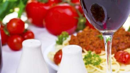 Sangiovese has enough acidity to confront a tomato