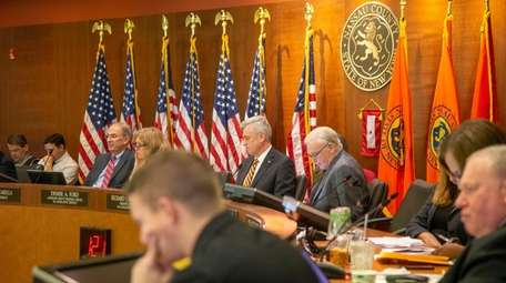 The Nassau County Legislature during the meeting on