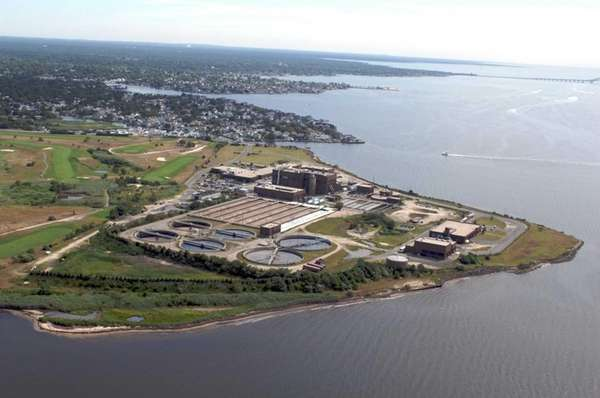 Aerial views of the Bergen Point Sewage Plant