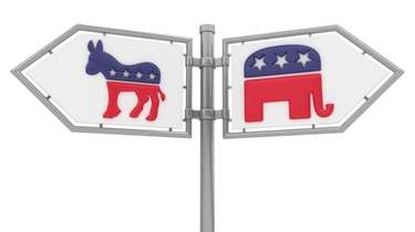 Democrats and Republicans and the 2016 presidential cycle...iStock
