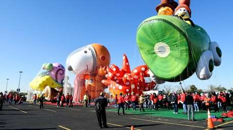 Balloons for this year's parade were unveiled at