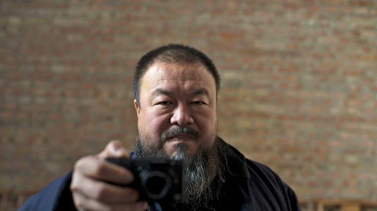 Ai Weiwei in a scene from Alison Klayman's