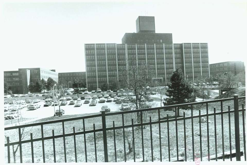 Then: Building 7, the Acute Medical Center, served
