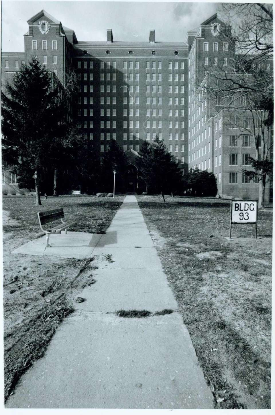 Then: This straight-on shot of Building 93 shows