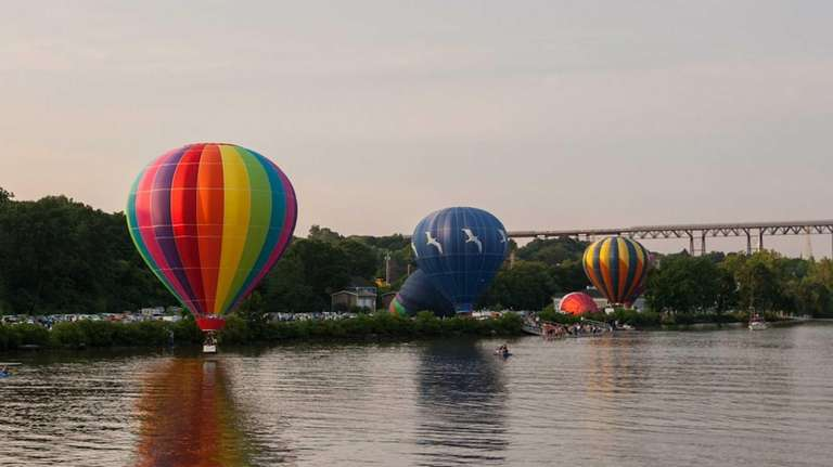 Hot air balloons take flight at the Hudson