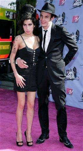 Amy Winehouse, right, and her husband, Blake Fielder-Civil,