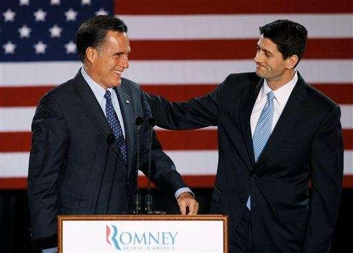 Paul Ryan introduces Mitt Romney before Romney spoke