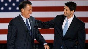Paul Ryan introduces Mitt Romney before Romney spoke