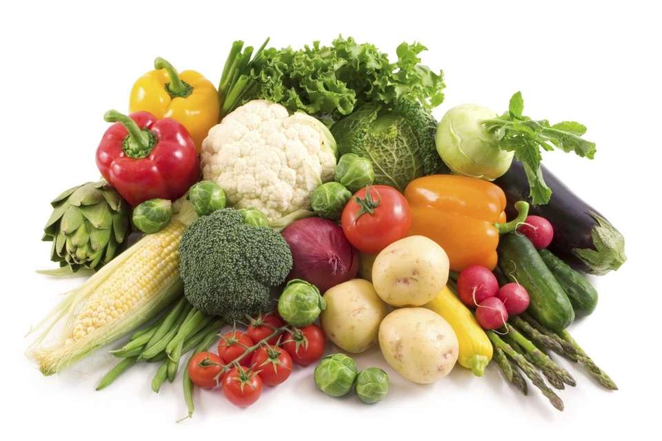 Choosing vegetables for a salad or planning a