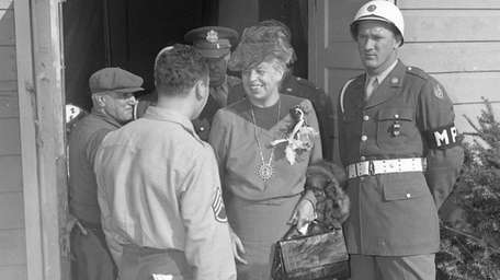 First Lady Eleanor Roosevelt visits the Mitchel Field