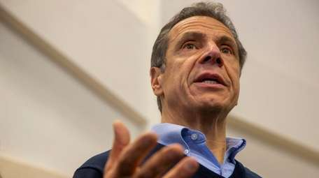 Gov. Andrew Cuomo speaks about National Grid on