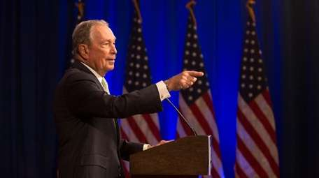 Democratic Presidential candidate Michael Bloomberg answers media questions