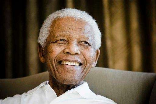 Former South African president Nelson Mandela at the