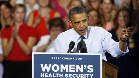 President Obama speaks during a campaign stop in