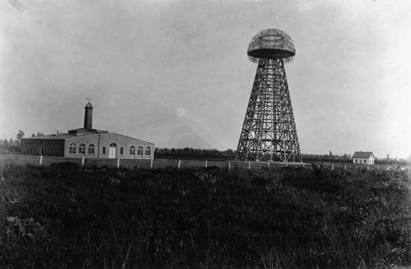 Tesla's wireless experimental station in Shoreham, Long Island.