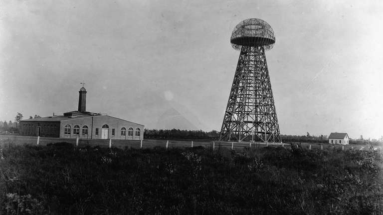 Tesla's wireless experimental station in Shoreham, Long Island.
