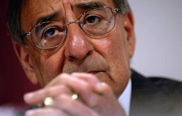 U.S. Defense Secretary Leon Panetta speaks during the