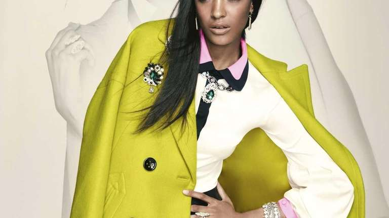 Don't forget attention-grabbing outerwear; here, a chartreuse jacket,