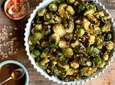 WHAT YOU'LL NEED: 3 pounds Brussels sprouts, trimmed
