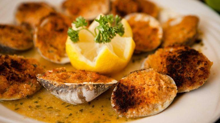 Baked clams at Tropix in Freeport. (June 10,