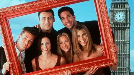 """Friends"" cast members Matthew Perry, left, Courteney Cox,"